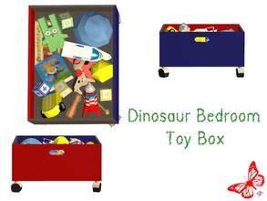 Sims 2 — Dinosaur Bedroom - Toy Box by sinful_aussie — Dinosaur bedroom/nursery for boys. Recolor of NoFrills \'little