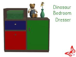 Sims 2 — Dinosaur Bedroom - Dresser by sinful_aussie — Dinosaur bedroom/nursery for boys. Recolor of NoFrills \'little