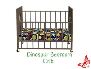 Sims 2 — Dinosaur Bedroom - Crib by sinful_aussie — Dinosaur bedroom/nursery for boys. Recolor of NoFrills \'little