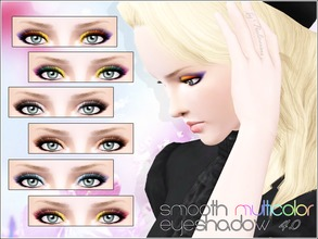 Sims 3 — Smooth Multicolor Eyeshadow 4.0 by Pralinesims — Realistic smoky eyeshadow for your sims! Your sims will love
