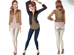Sims 3 — Deep Set by ernhn — Deep Set *Jacket Top *Jeans *High Heels