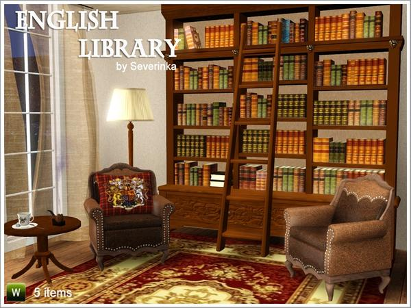 severinka 39 s english library set. Black Bedroom Furniture Sets. Home Design Ideas