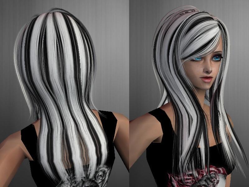 S Streaked Hair White