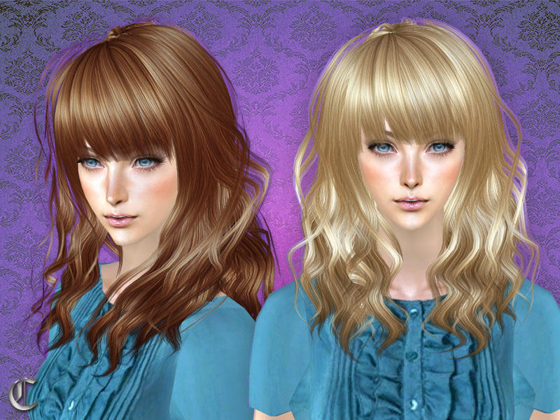 Curly Hair Styles With Bangs: Cazy's Catfight Hairstyle