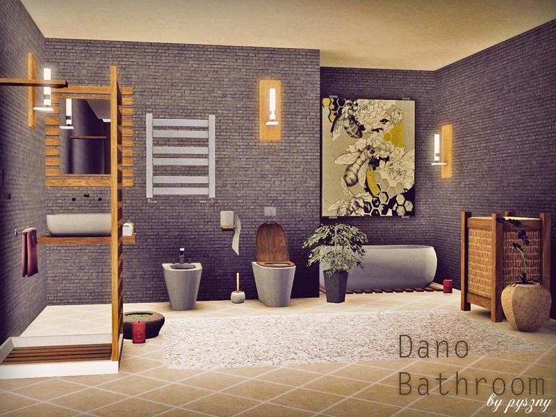Pyszny16 39 s dano bathroom for Bathroom ideas sims 3