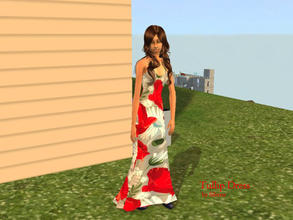 Sims 2 — Tulip dress by Silerna — Another floral dress for adult sims.This time tulips!
