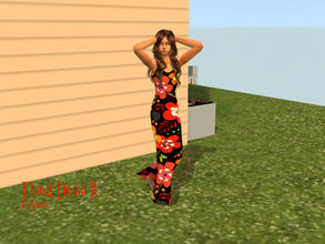 Sims 2 — Floral Dress ll by Silerna — Another happy design with flowers for adult sims