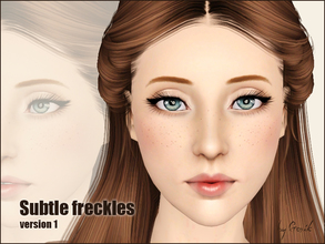 Sims 3 Freckles