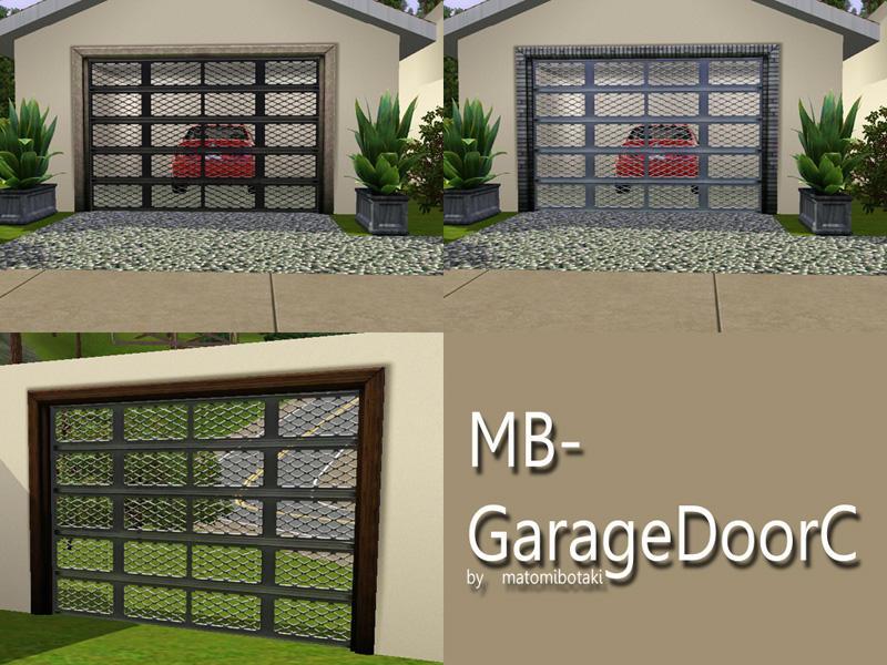 Matomibotaki 39 s mb garagedoorc for Sims 4 garage
