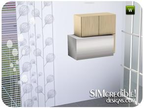 Sims 3 — Astraea Wall Cabinet & RangeHood by SIMcredible! — by SIMcredibledesigns.com available at TSR
