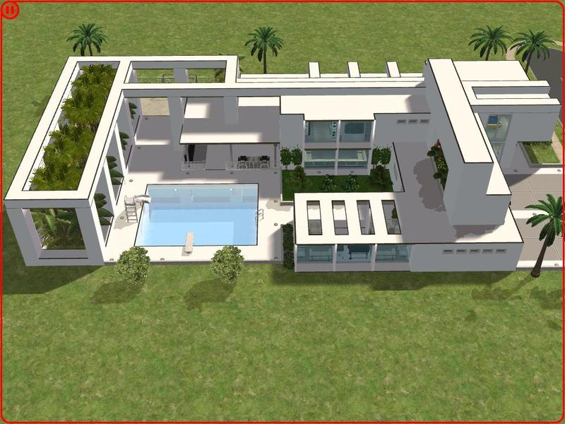 Ramborocky90 39 s modern minimalist house for Minimalist house the sims 3