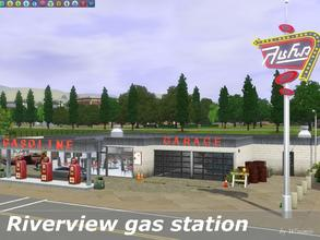 Sims 3 — Riverview gas station by Wimmie — Hi, I 've decided that Riverview needs a gas station. And here it is. I've