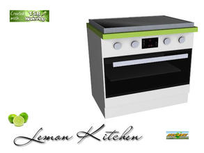 Sims 3 — S3C Lemon Kitchen Stove by ruhrpottbobo — S3C Lemon Kitchen Stove