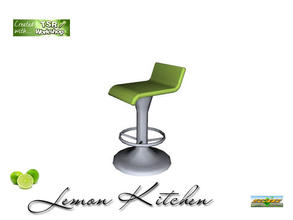 Sims 3 — S3C Lemon Kitchen stool  by ruhrpottbobo — S3C Lemon Kitchen stool