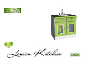 Sims 3 — S3C Lemon Kitchen sink by ruhrpottbobo — S3C Lemon Kitchen sink