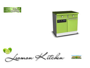Sims 3 — S3C Lemon Kitchen trash compactor by ruhrpottbobo — S3C Lemon Kitchen trash compactor