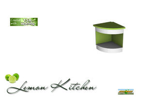 Sims 3 — S3C Lemon corner counter by ruhrpottbobo — S3C Lemon corner counter outside corner counter