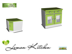 Sims 3 — S3C Lemon kitchen counter by ruhrpottbobo — S3C Lemon kitchen counter