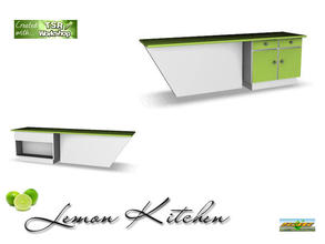 Sims 3 — S3C Lemon Kitchen dining counter  by ruhrpottbobo — S3C Lemon Kitchen dining counter