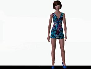 Sims 3 — Leopard print dress - not recolorable by patrymad — Dress up your sims with this leopard print cool dress.