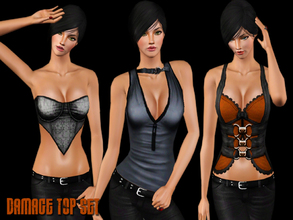 Sims 3 — Damage Top Set by saliwa — Daily Tops for your sims.