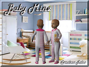 Sims 2 — Baby Mine - Pink by Cerulean Talon — Whether you have twins, or just a baby boy or girl, this adorable sleeper