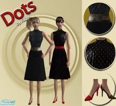 Sims 2 — Dots Set by filizk — 2 everyday outfits for female adults. Hope you like them.