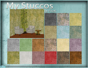Sims 2 — My Stuccos Wall Set by filizk — Here is my version of some poured walls. I made these walls long time ago to use