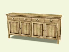 Sims 3 — Cambria Diningroom Cabinet by AnoeskaB — Part of the Cambria Diningroom. Made by Anoeska for TSR. TSRAA - may be