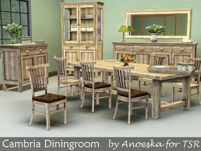 Sims 3 — Cambria Diningroom by AnoeskaB — A new diningroom set. TSRAA