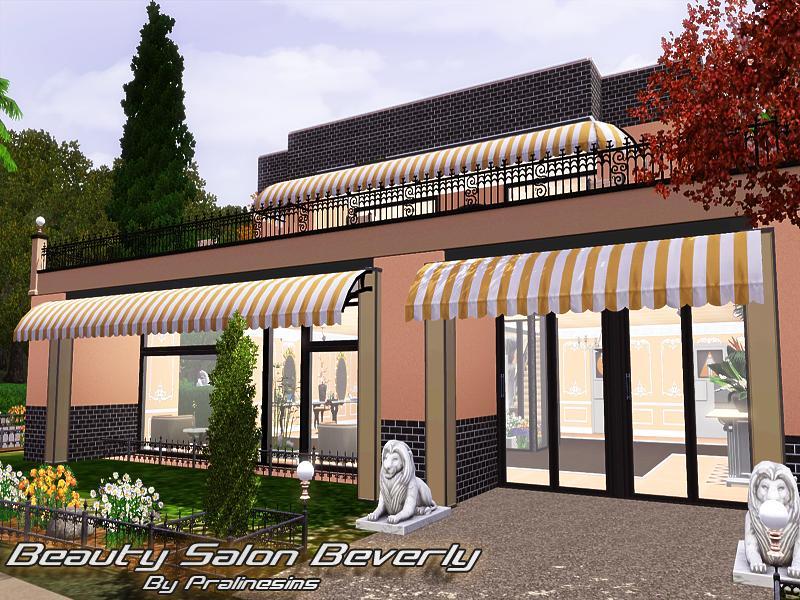 Pralinesims 39 beauty salon beverly for Sims 3 salon moderne