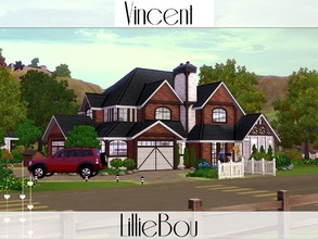 Sims 3 — Vincent by lilliebou — This house is for a family of 6 Sims. First floor: -Kitchen -Dining room -Bathroom