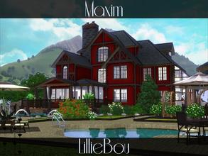 Sims 3 — Maxim by lilliebou — This house is for a family of about 7 Sims. First floor: -Kitchen -Dining room -Living room