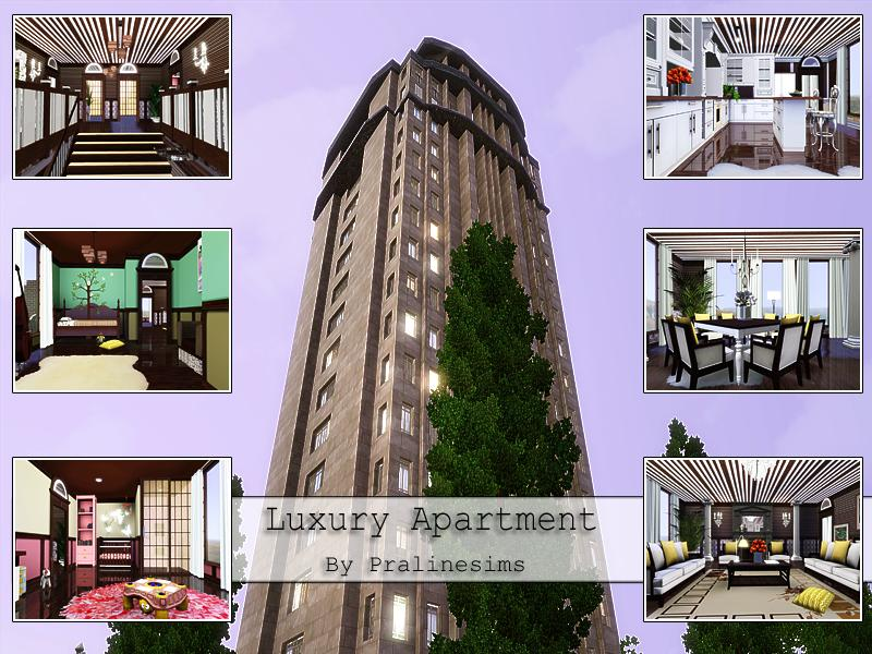 Pralinesims 39 luxury apartment for Apartment design sims 3