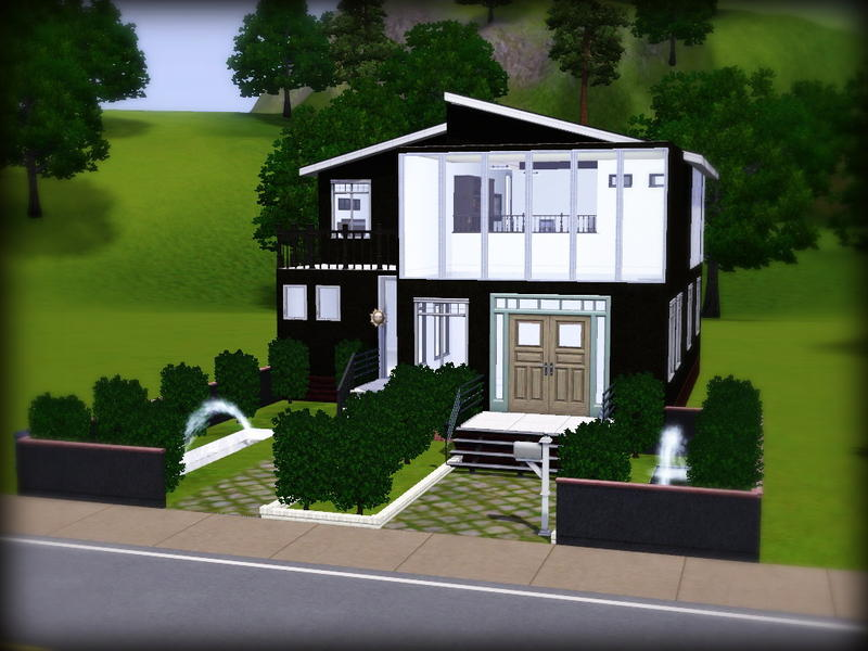 Bby l 39 s simple minimalist house 2 for Minimalist house sims 2