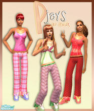 Sims 2 — P-Jays Set by filizk — 3 cute and lovely PJs for your adult sims.
