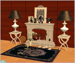 Sims 2 — Black&Silver deco set by Birgit43 — some classic black and silver deco items