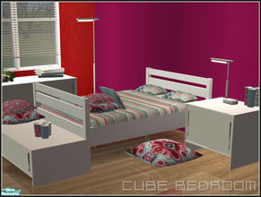 Sims 2 — Cube bedroom by mirake — Well, here it is, my very first own mesh set! Never tought I would ever do this, seems