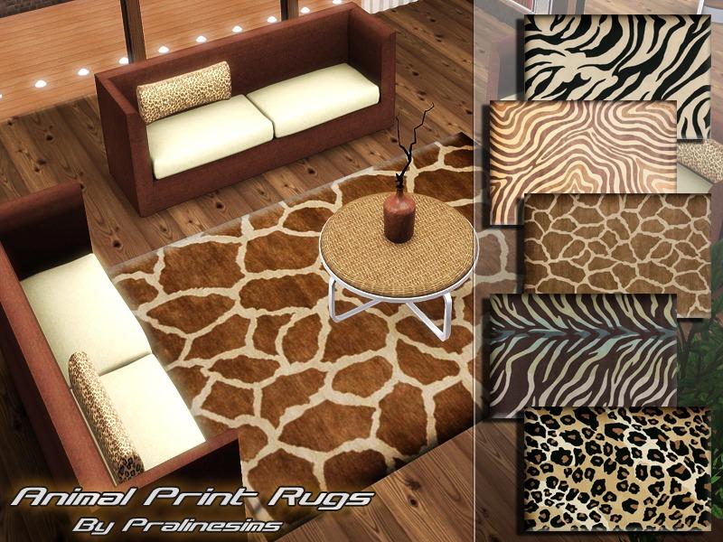 pralinesims 39 animal print rugs. Black Bedroom Furniture Sets. Home Design Ideas