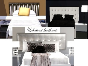 Sims 3 — Upholstered headboard by patrymad — Upholstered headboard combines perfectly with decorations in different