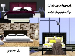 "Sims 3 — Upholstered headboard PART 2 by patrymad — Second part of ""upholstered headboards"" The"