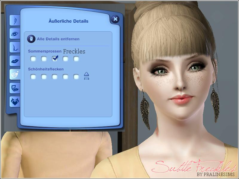 Sims 3 Updates - 19 Sims3 Blog : Freckles by 19 Sims 3 Blog
