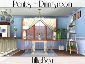Sims 3 — Pontus - Dining room by lilliebou — This set is composed of 7 items: -One dining table -One dining chair -One