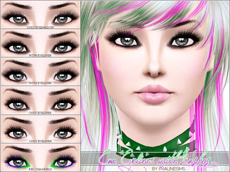 Pralinesims' Emo Eyeliner with Lashes