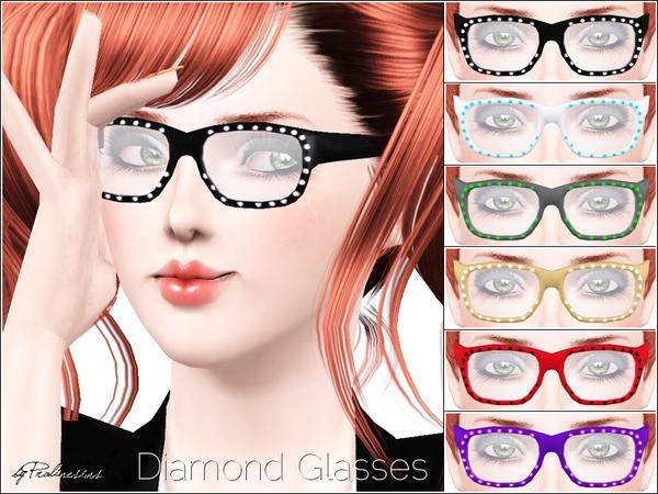 Diamond Glasses by Pralinesims