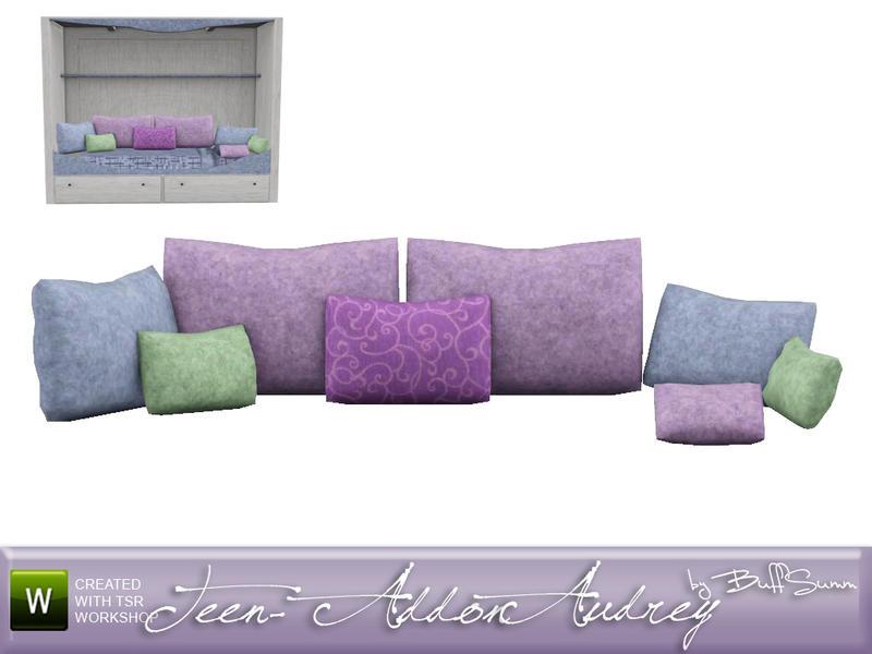 Throw Pillows Sims 4 : BuffSumm s Audrey Kids Built In Bed Pillows