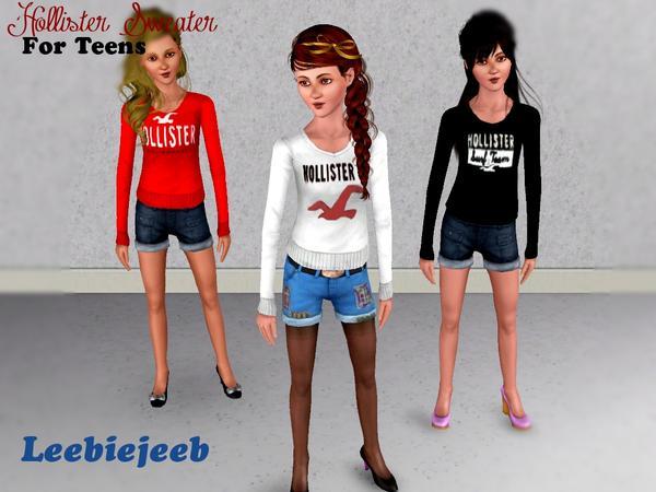 Hollister Sweaters Hollister Hoodies Hollister Shirts Hollister Jacket Hollister Pants Hollister Jeans: Leebiejeeb's Hollister Sweater For Teens *2 NEW DESIGNS