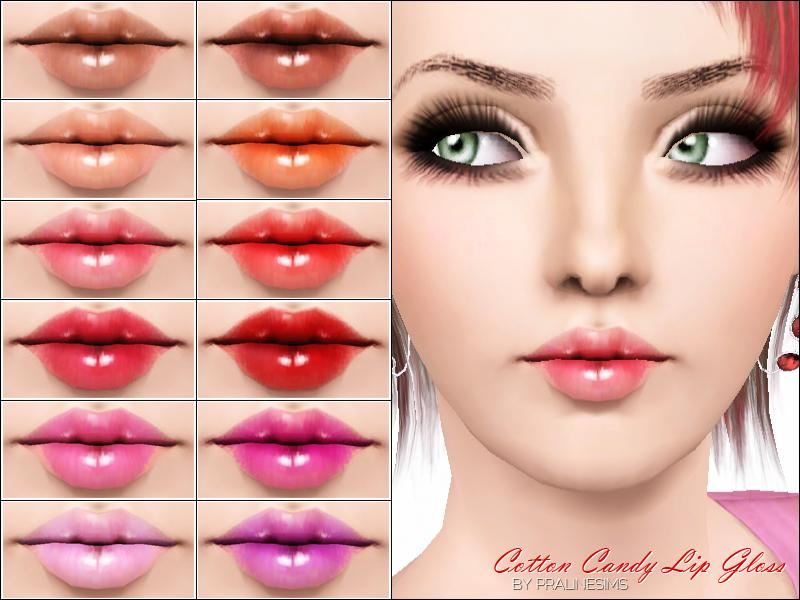 Pralinesims Cotton Candy Lip Gloss