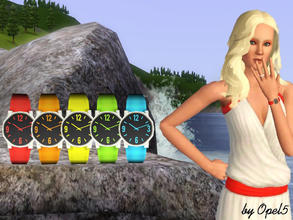 Sims 3 — Rainbow Watch for female by opel5 — This is a great Watch for female Sims. The Rainbow Watches are for young