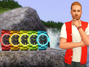 Sims 3 — Rainbow Watch for male by opel5 — This is a great Watch for male Sims. The Rainbow Watches are for young adult